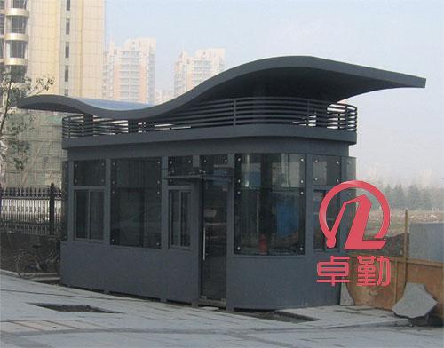 不锈钢门头造型_钢结构岗亭门头造型-上海卓勤建筑科技有限公司